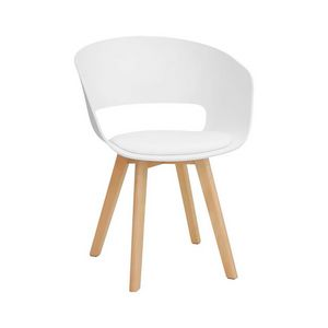 2941, Modern chair with eco-leather cushion