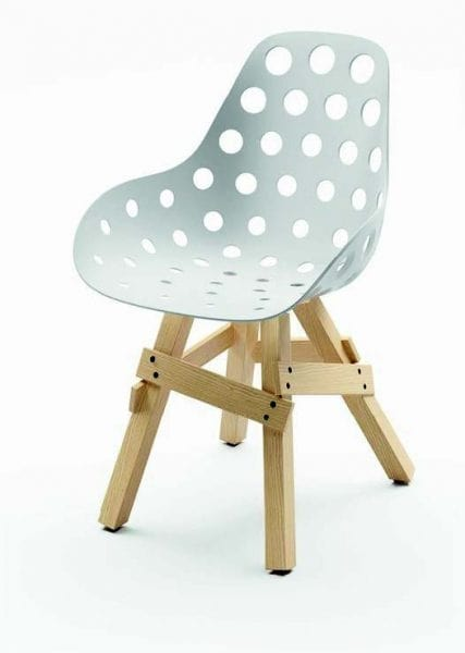 521 Icon, Small armchair in wood and polypropylene