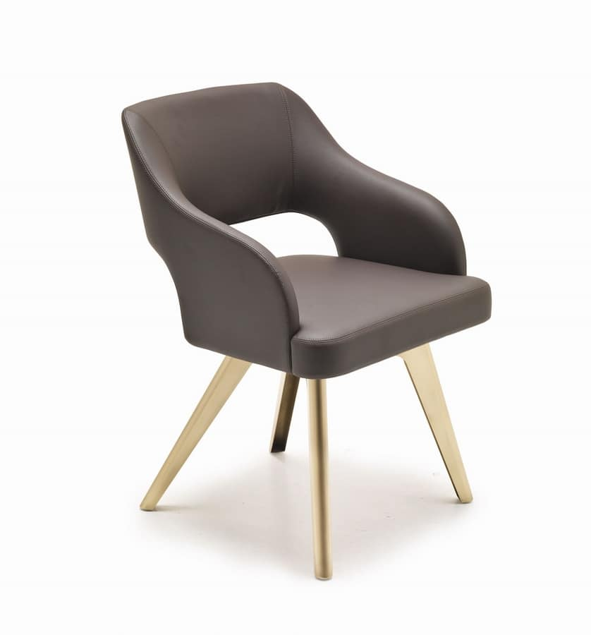 Adria chair, Chair vintage flavor, with customizable finish