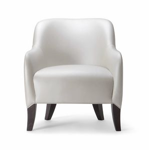 ALYSON LOUNGE CHAIR 048 P, Armchair with rounded shapes
