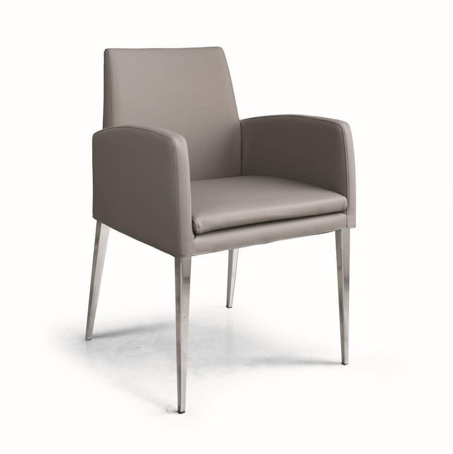 ART. 247/3 HOLLYWOOD ARMCHAIR, Chairs with modern lines, for reading area