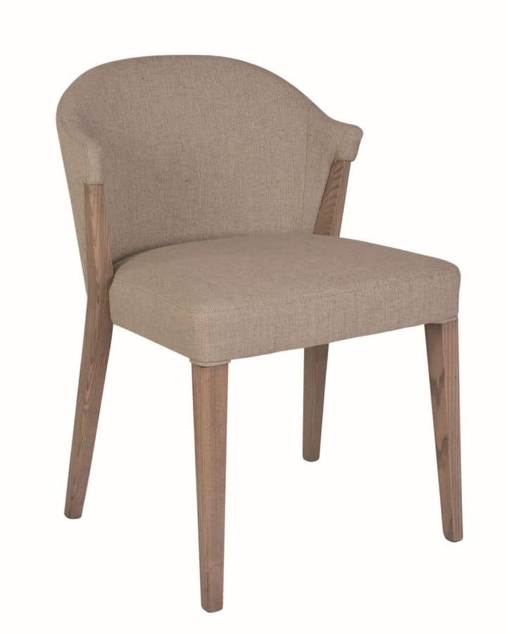 Artù, Armchair in ash, for contract and residential environments