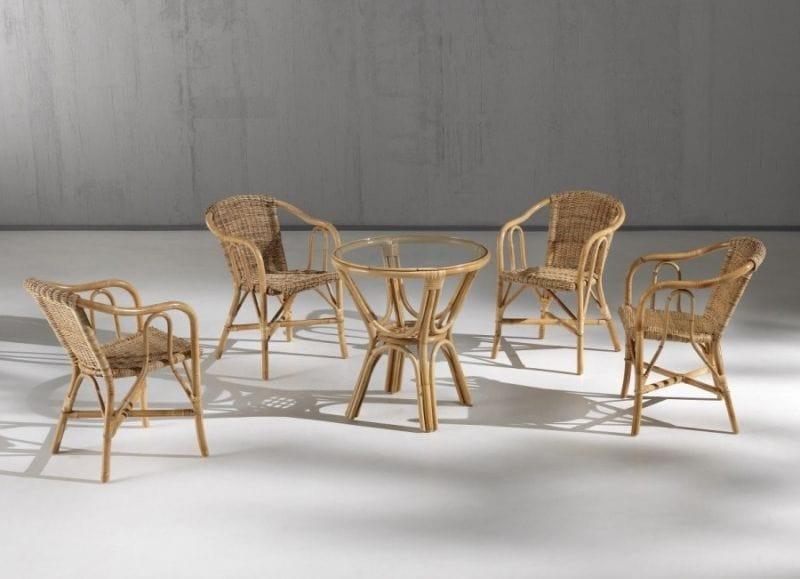 Barina armchair, Barina armchair in natural junchet