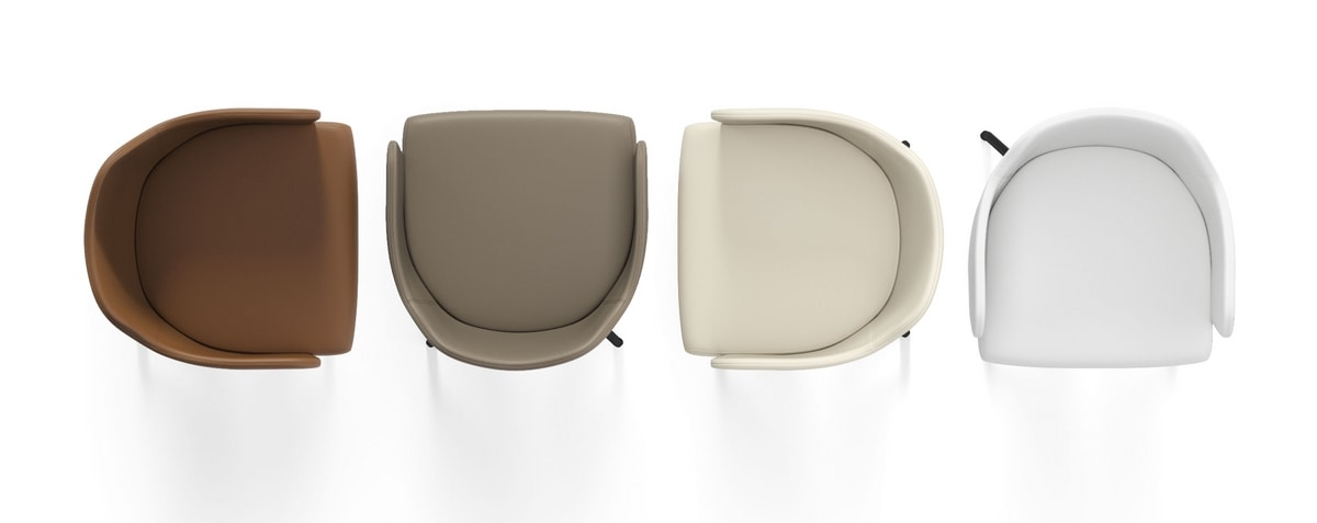 BLITZ, Swivel armchair for waiting rooms