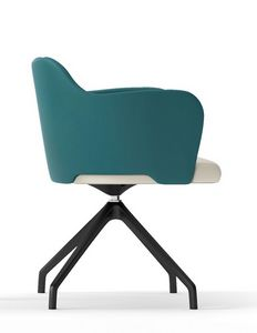 BLITZ, Swivel armchair with pyramidal base