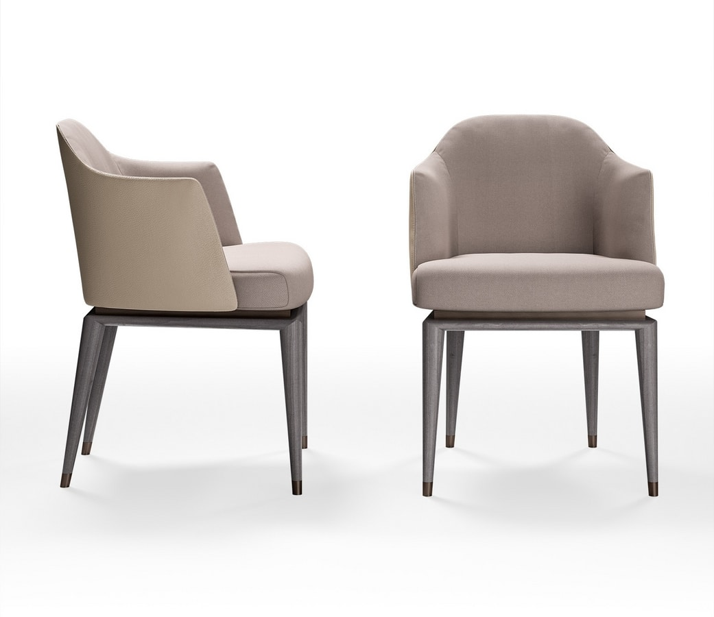 Bluemoon Art. B122, Simple and refined armchair