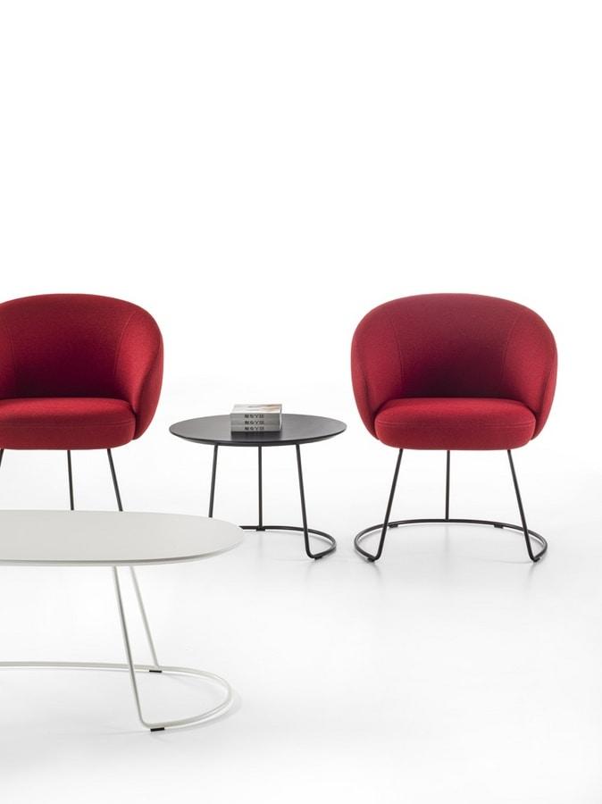 Botero Mignon, Armchair with metal base