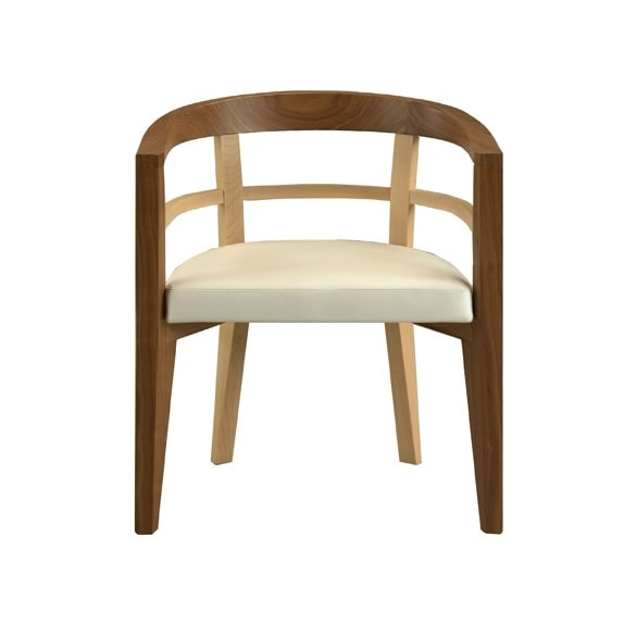 Bramante 3880, Armchair with an enveloping shape