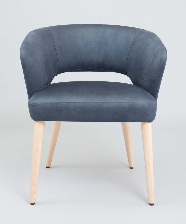 BS450A - Armchair, Armchair covered in eco-leather