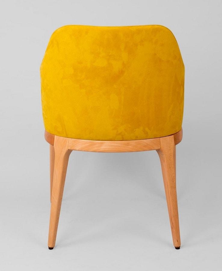 BS462A - Armchair, Upholstered beech armchair