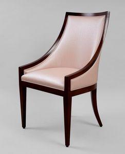 BS464A - Armchair, Armchair wood and leather