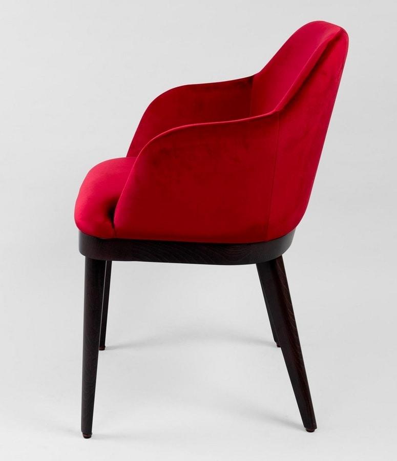 BS466A - Armchair, Upholstered armchair