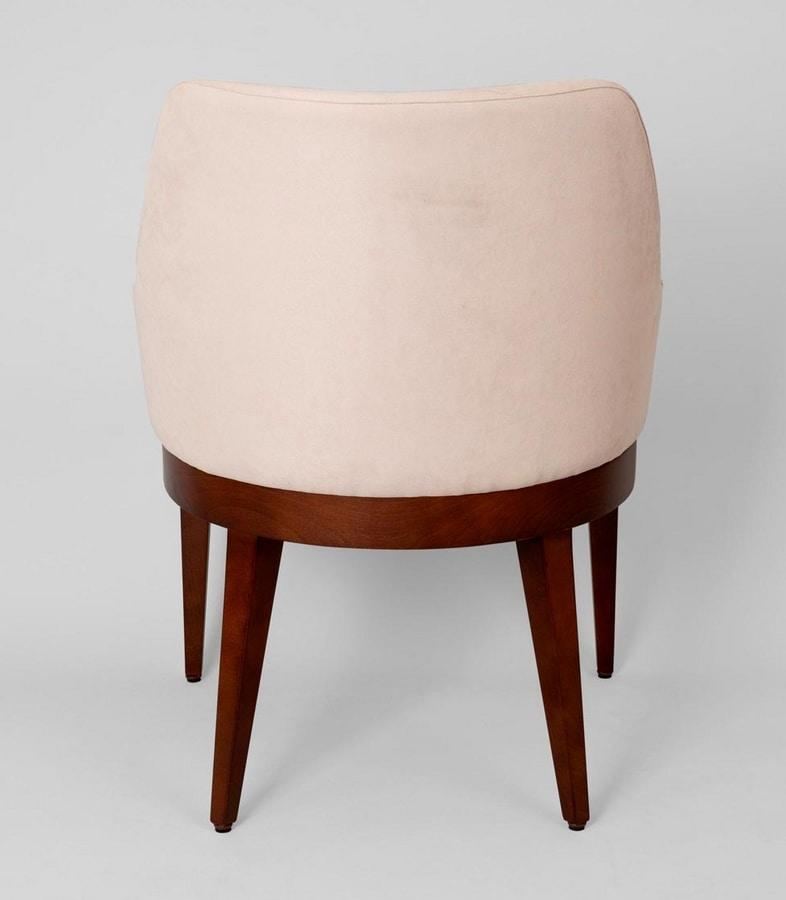 BS467A - Armchair, Upholstered beech armchair