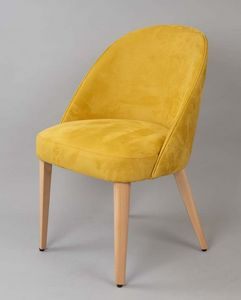 BS470A - Armchair, Upholstered armchair with upholstered back