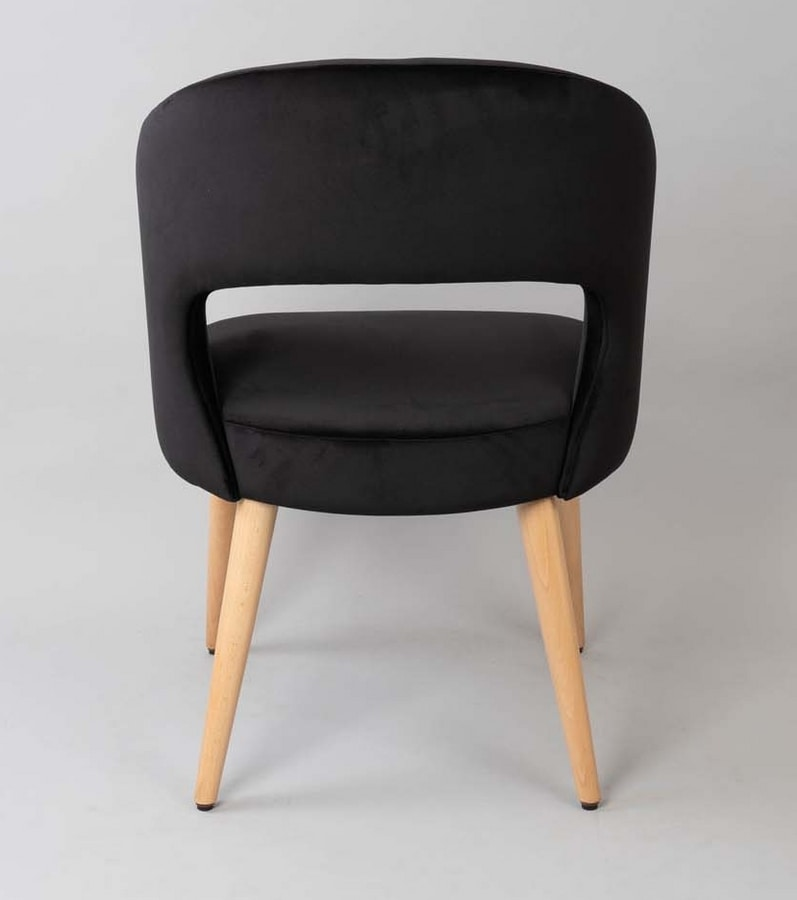 BS475A - Armchair, Upholstered armchair with upholstered back