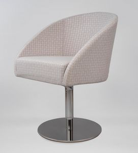 BS483A � Poltrona, Armchair with swivel base in steel