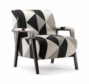 CARTER LOUNGE CHAIR 068 P, Armchair with elegant padding