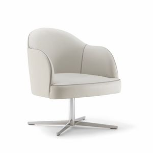 CHICAGO ARMCHAIR 015 P X, Armchair with cross base
