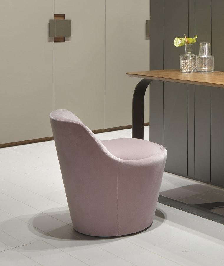 CHLOÉ small armchiar, Small armchair upholstered in velvet