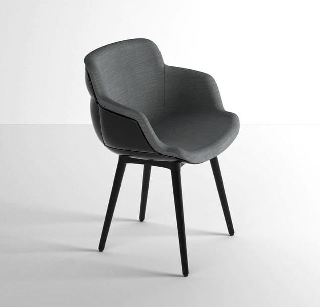Choppy Sleek BP, Lounge armchair in polymer-steel