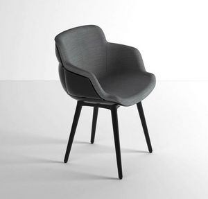 Choppy Sleek BP, Lounge armchair in polymer-steel