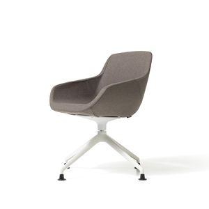 Clea Plus pyramid base, Swivel armchair with white or anthracite base