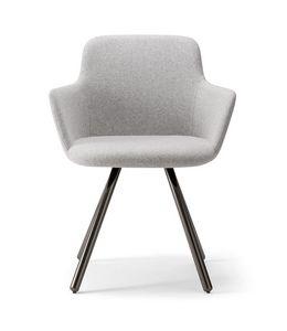 CLO� ARMCHAIR 025 PL, Armchair with metal legs