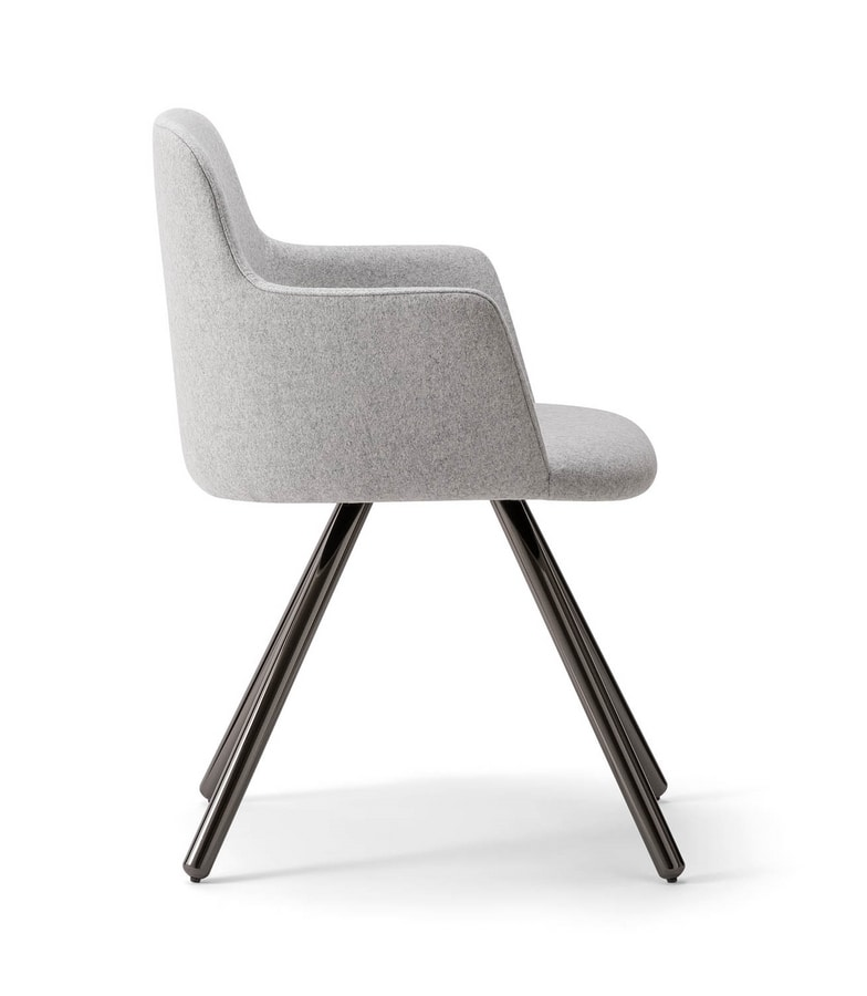 CLOÈ ARMCHAIR 025 PL, Armchair with metal legs