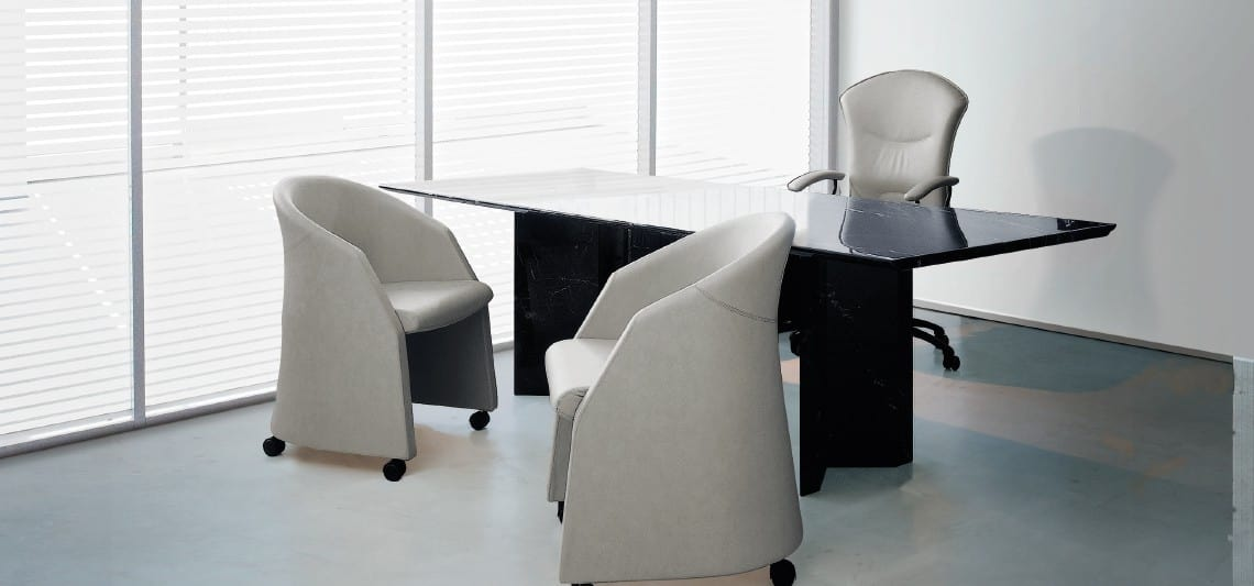 CLUB, Wrapping armchair, for meeting and office visitors