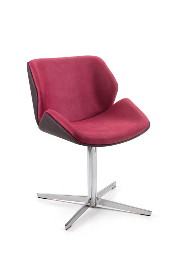 Codognè, Armchair with chrome base, for professional offices