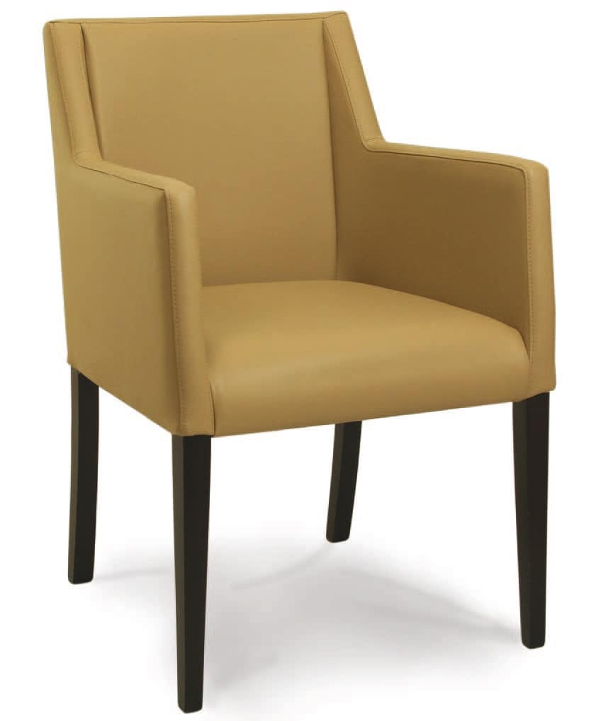 Corsica P, Padded wooden armchair, for waiting rooms and offices