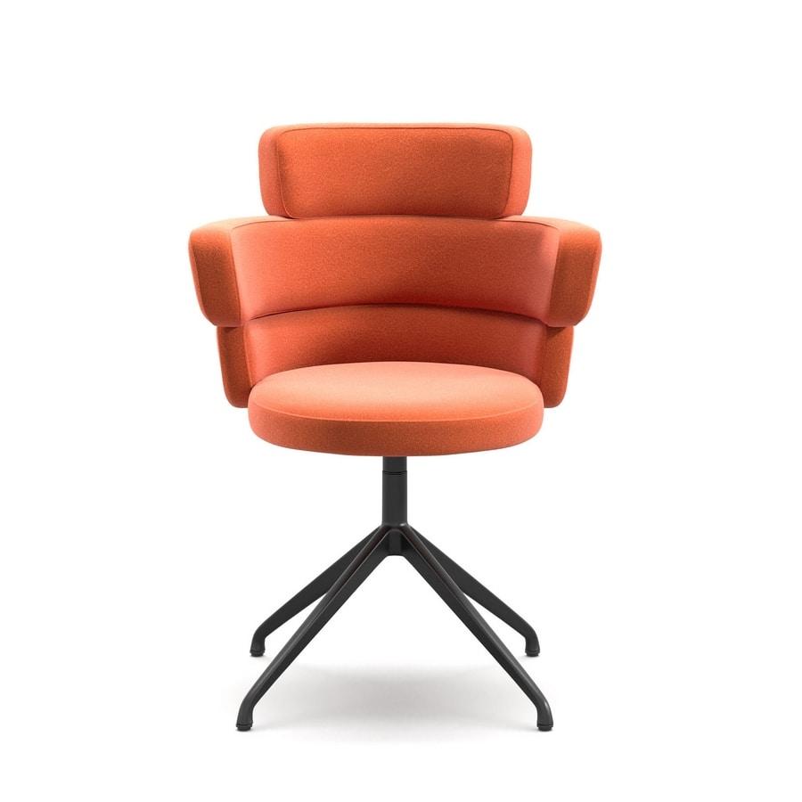 Dam XL SP, Swivel armchair with high back