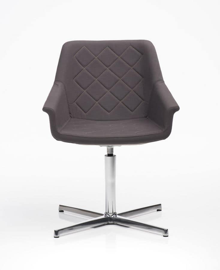Dama 4 razze, Swivel armchair with self-return mechanism