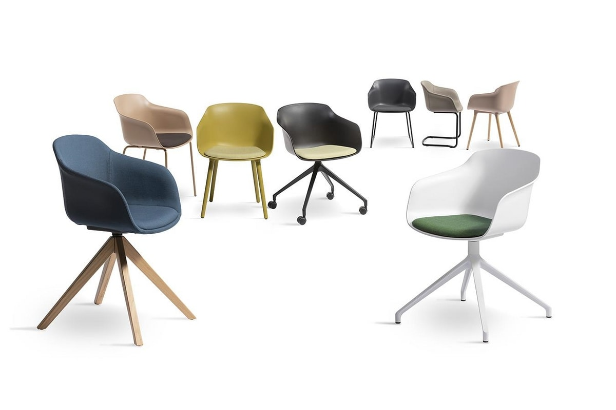 Dame BL, Chair with shell in plastic material