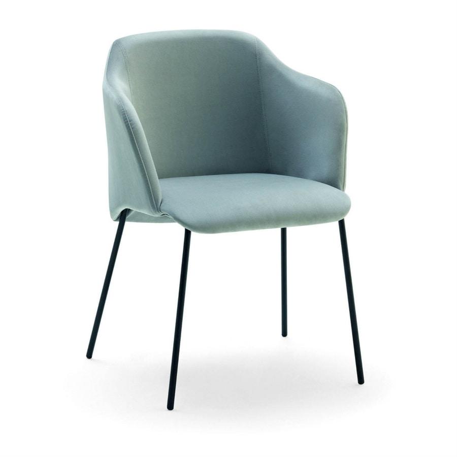Diva, Armchair with metal legs