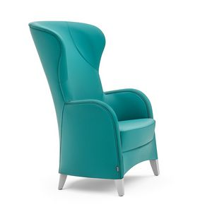 Euforia 00145, Lounge armchair with high back