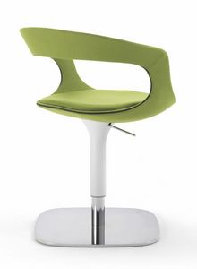 Frenchkiss swivel armchair 10.0406, Small armchair adjustable in height, with elegant base