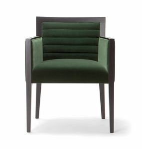 GINEVRA ARMCHAIR 031 PO, Armchair with a rigorous design