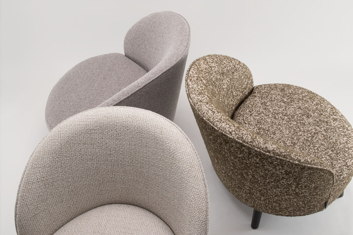 GINGER LOUNGE CHAIR 060 P, Armchair with perfectly round seat