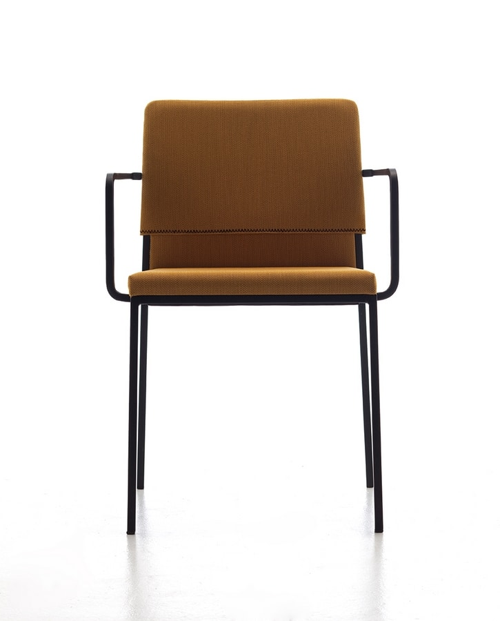 Hat AR, Stackable armchair, in various colors, for contract use