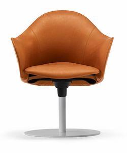 Hipod & Lopod armchair 10.0191, Swivel leather armchair