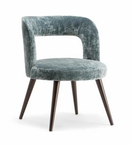 HOLLY ARMCHAIR 065 PO, Armchair with a rounded design