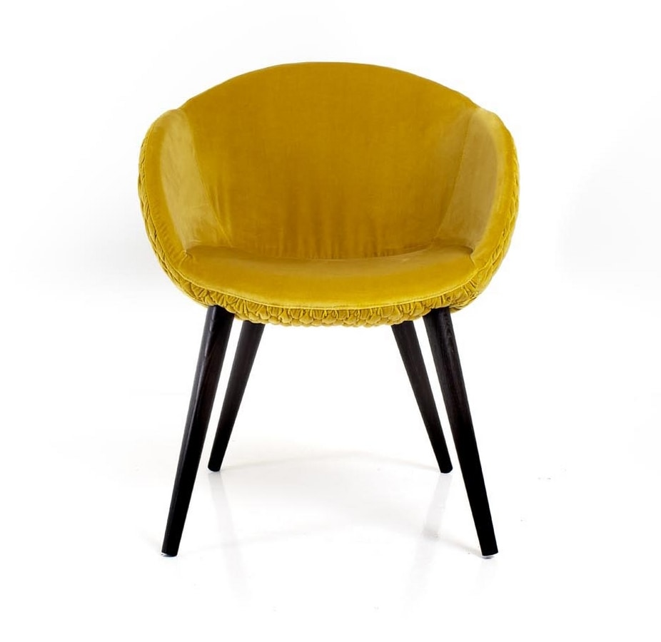 Jennifer, Small armchair with a rounded shape