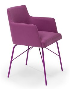 Kate ARMS metal, Small armchair with a modern look