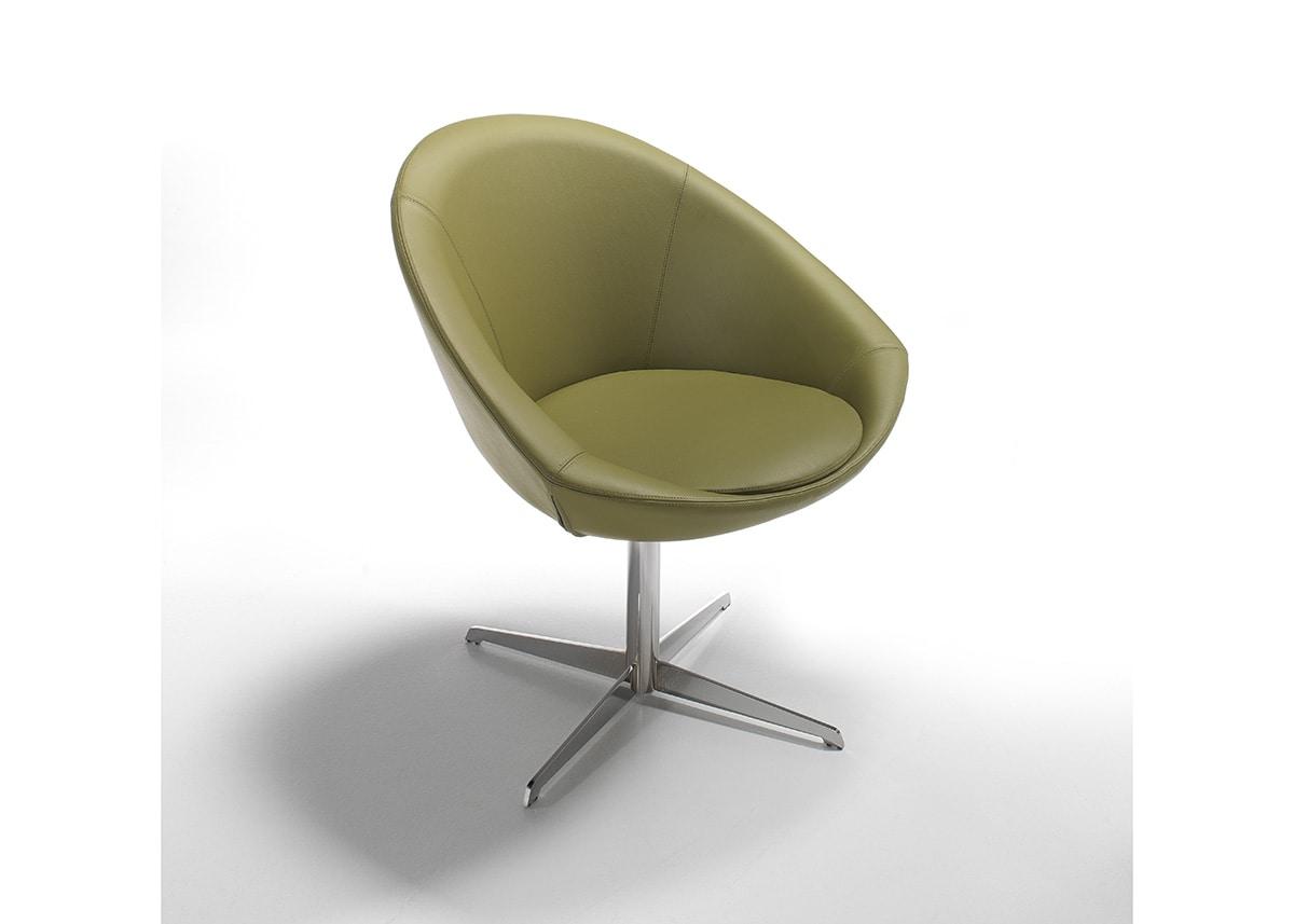 Luna, Armchair with swivel base