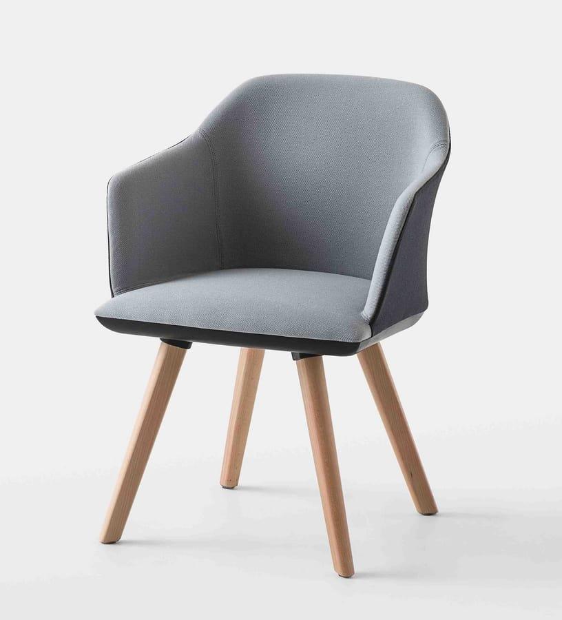 Manaa BL, Office armchair with beech legs