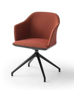 Manaa U, Upholstered armchair for office