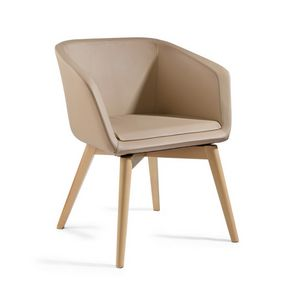 Megan PL, Comfortable armchair upholstered in leather