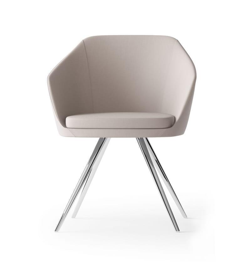 MIMÌ, 4-legged steel armchair