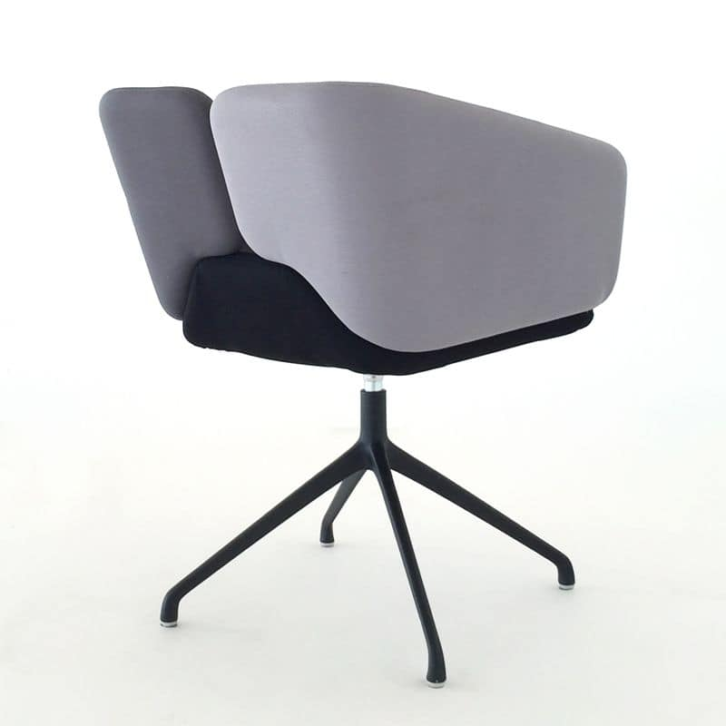 Mixx spider, Comfortable small armchair, customizable upholstery colors, for office and hotel